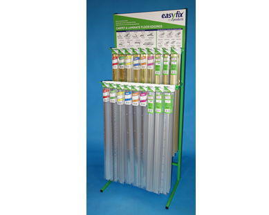 Easyfix carpet and laminate edge combo display stand