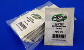 surface preparation wipes for degreasing prior to using easyfix draught excluders